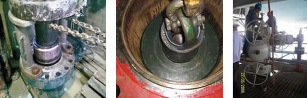 Servicio de instalación y prueba de los cabezales de pozo