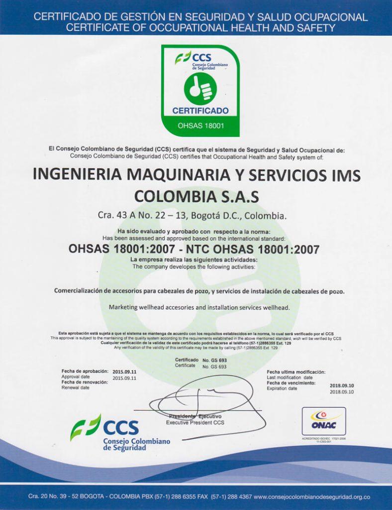IMS Colombia certificado-gestion-en-seguridad-y-salud-ocupacional